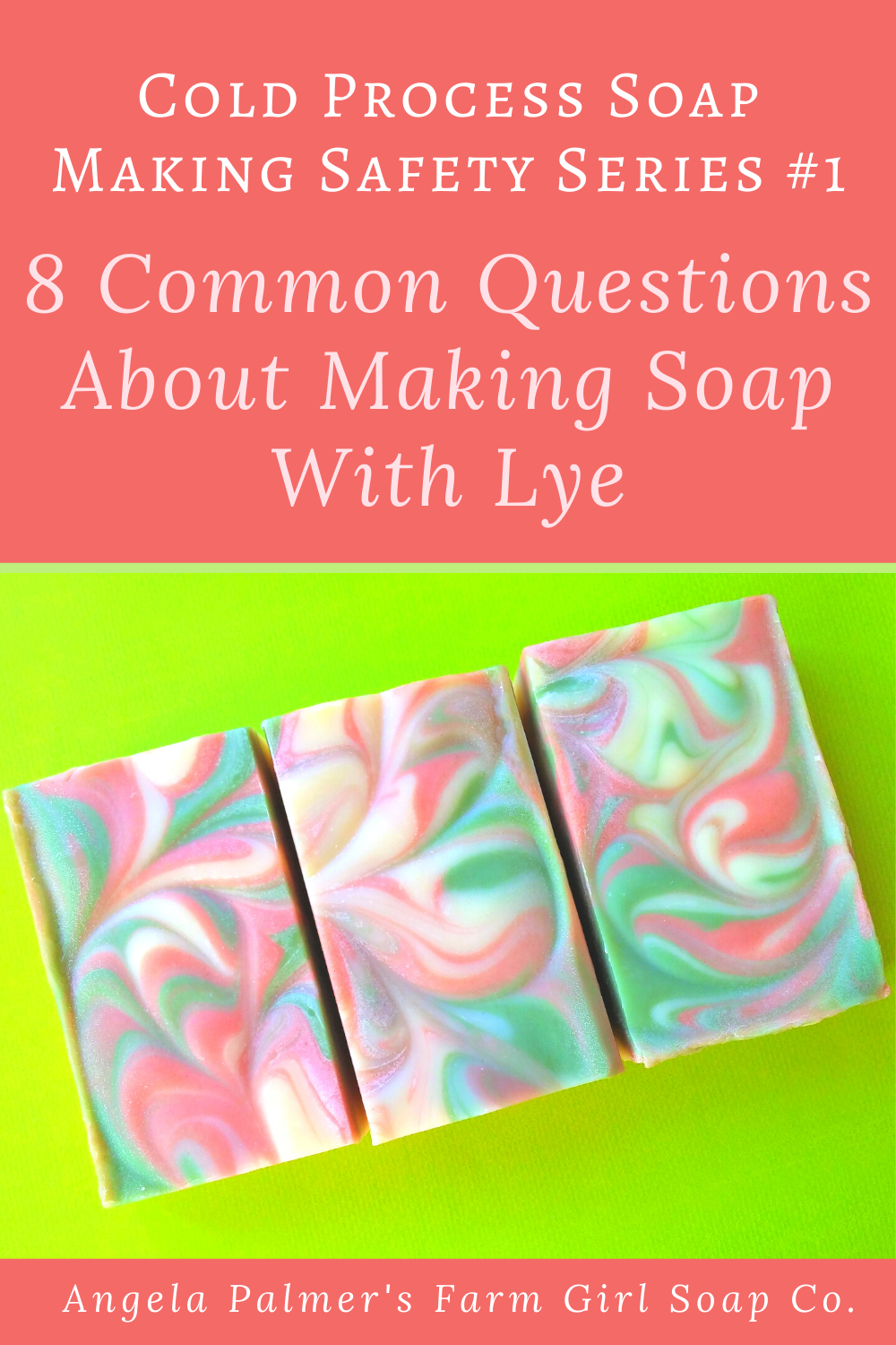 Ready to learn how to make your own soap? Got questions about working with lye? Here are answers t the 8 most common questions about making soap with lye. By Angela Palmer at Farm Girl Soap Co.