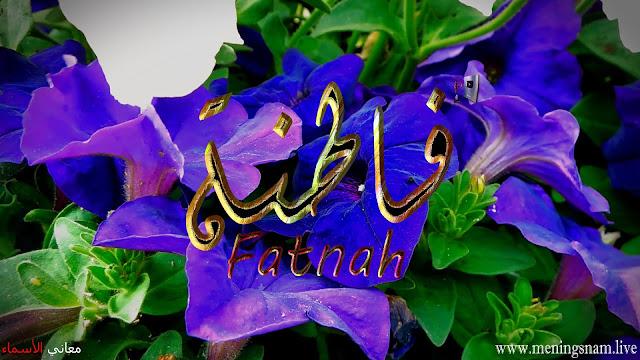 معنى اسم فاطنة وصفات حاملة هذا الاسم Fatnah
