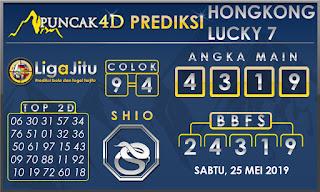 PREDIKSI TOGEL HONGKONG LUCKY7 PUNCAK4D 25 MEI 2019