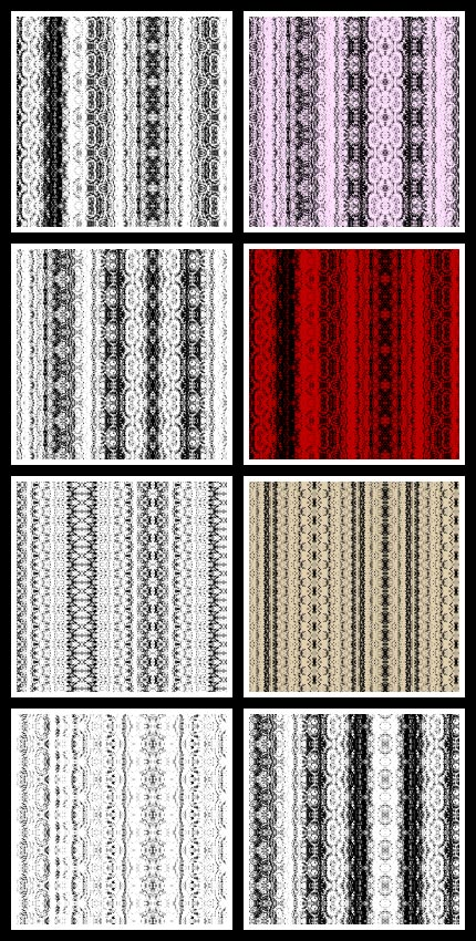 Preview of patterns included in Vertical Lace set
