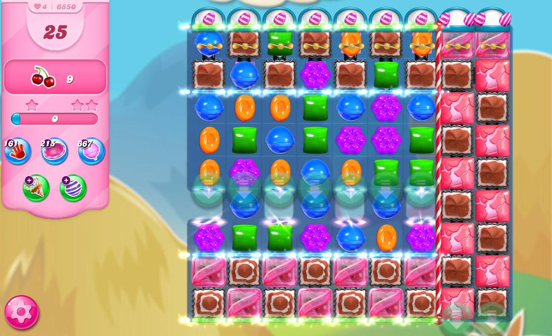 Candy Crush Saga level 6850