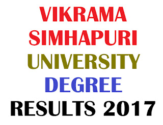 VSU Degree 1st 2nd 3rd year Results 2017
