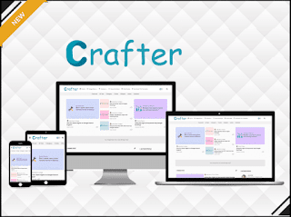 Crafter Blogger template