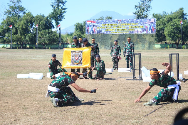 Atraksi Pencak Silat Prajurit Kostrad Pukau Peserta Garuda Shield 2019