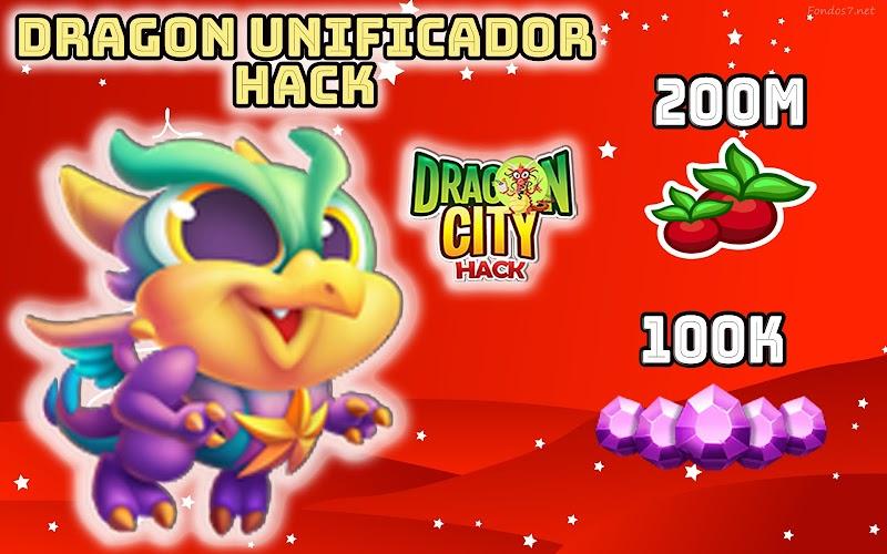 DRAGON CITY HACK - DRAGON UNIFICADOR OBTENER GRATIS + GEMAS + COMIDA
