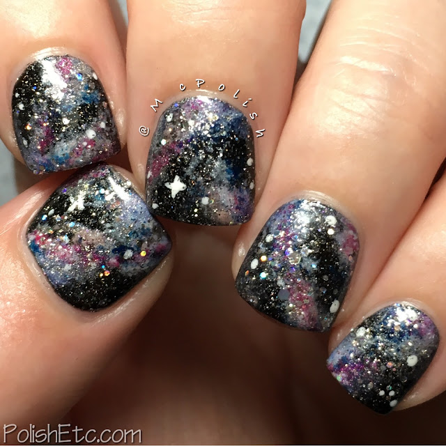 Galaxy nails with Zoya polishes - McPolish - #31DC2016Weekly