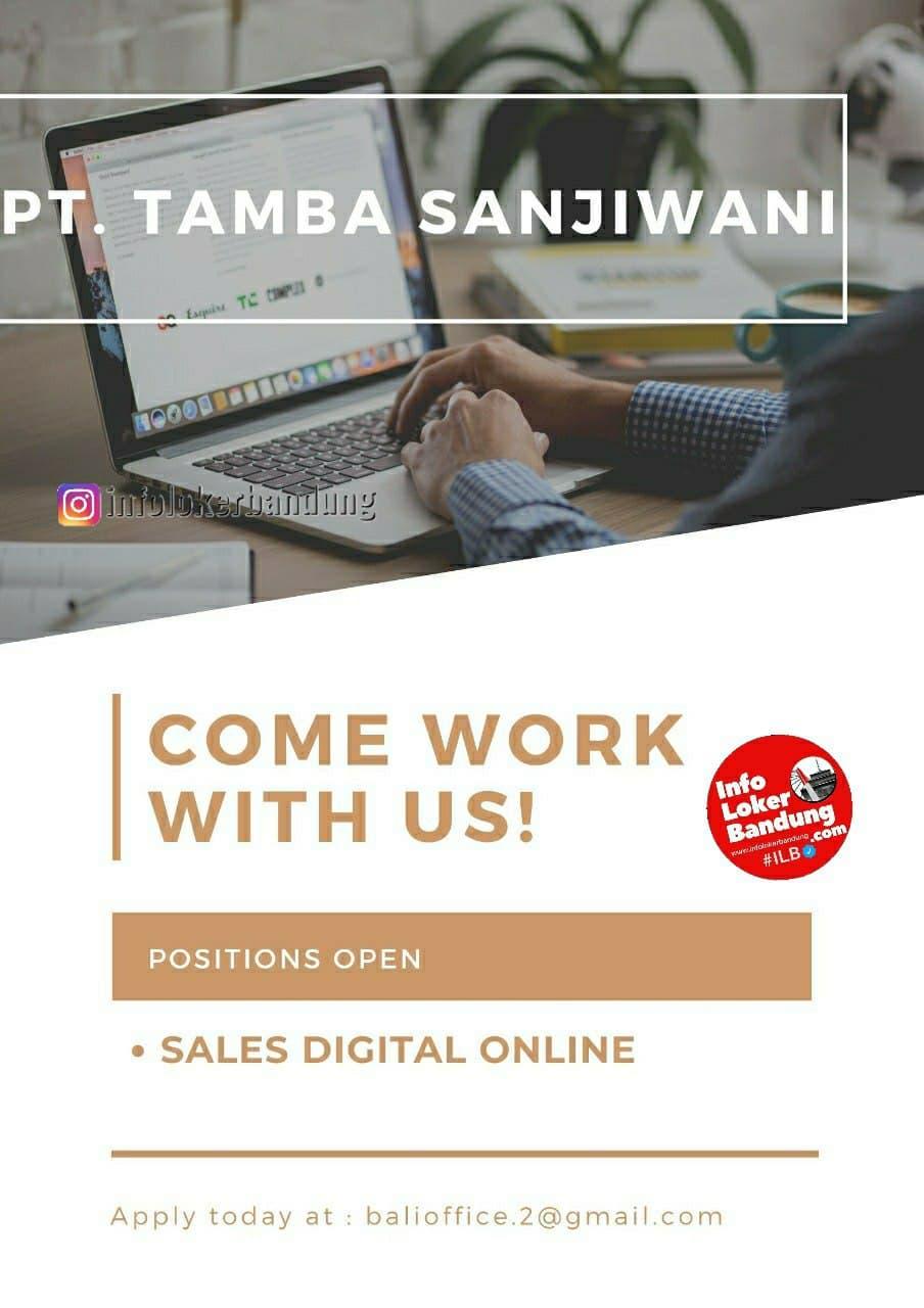 Lowongan Kerja PT. Tamba Sanjiwani Bandung Desember 2020