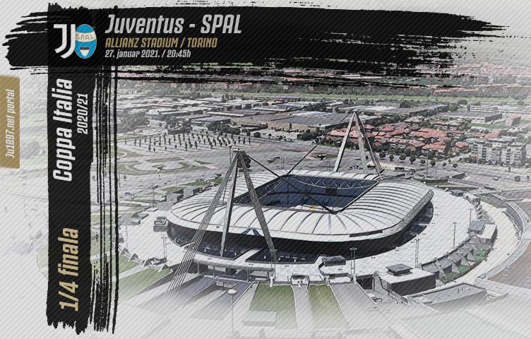 Coppa Italia 2020/21/ 1/4 finala / Juve - SPAL, srijeda, 20:45h