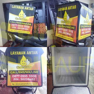 Tas delivery box makanan Surabaya Cha cha