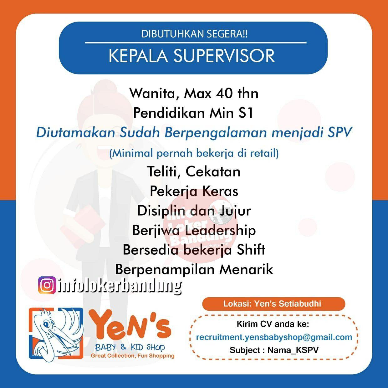 Lowongan Kerja Kepala Supervisor Yens Baby And Kid Shop Bandung Juli 2019