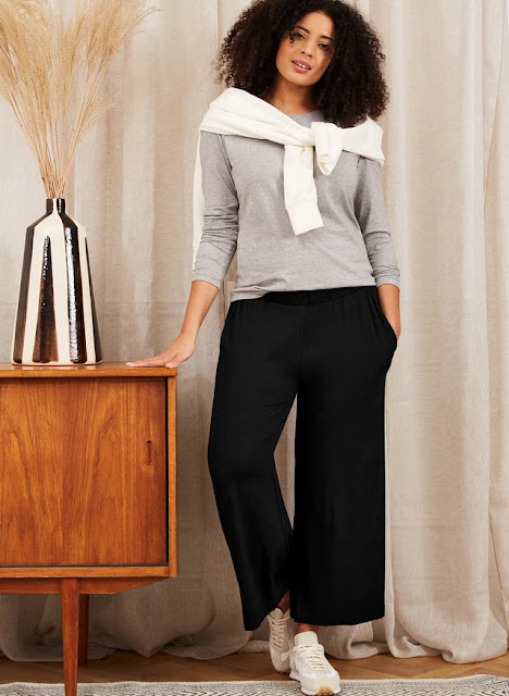 Cropped Palazzo Trouser