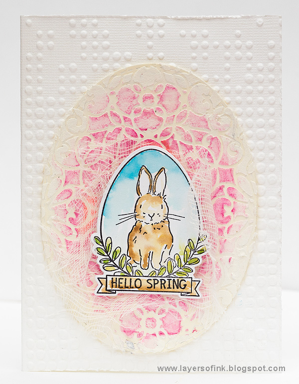 Layers of ink - Textured Egg Card by Anna-Karin with SSS New Beginnings.