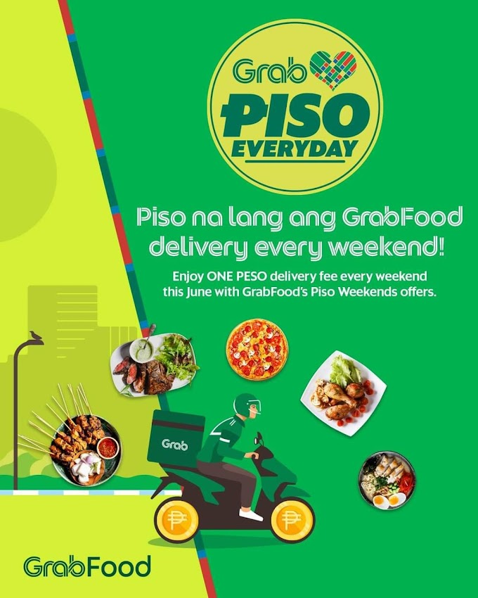 1 Peso Delivery Fee on JCO Donuts When You Order from Grab Food PH