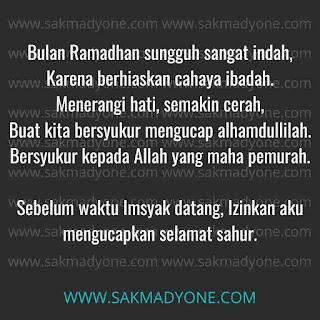 Gambar Selamat Sahur Ramadhan 2021