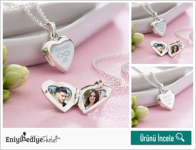 Sonsuz Aşk Fotoğraf Kalp Kolye