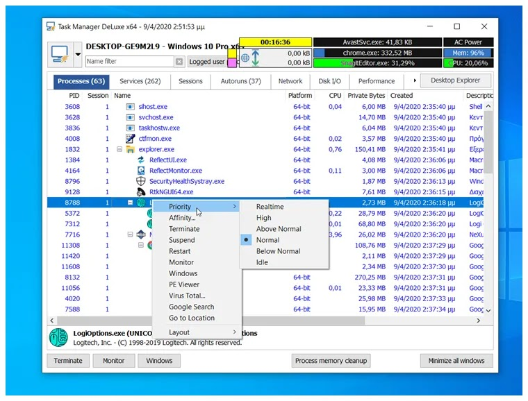 MiTeC Task Manager DeLuxe :  Ισχυρή εφαρμογή διαχείρισης εργασιών στα Windows