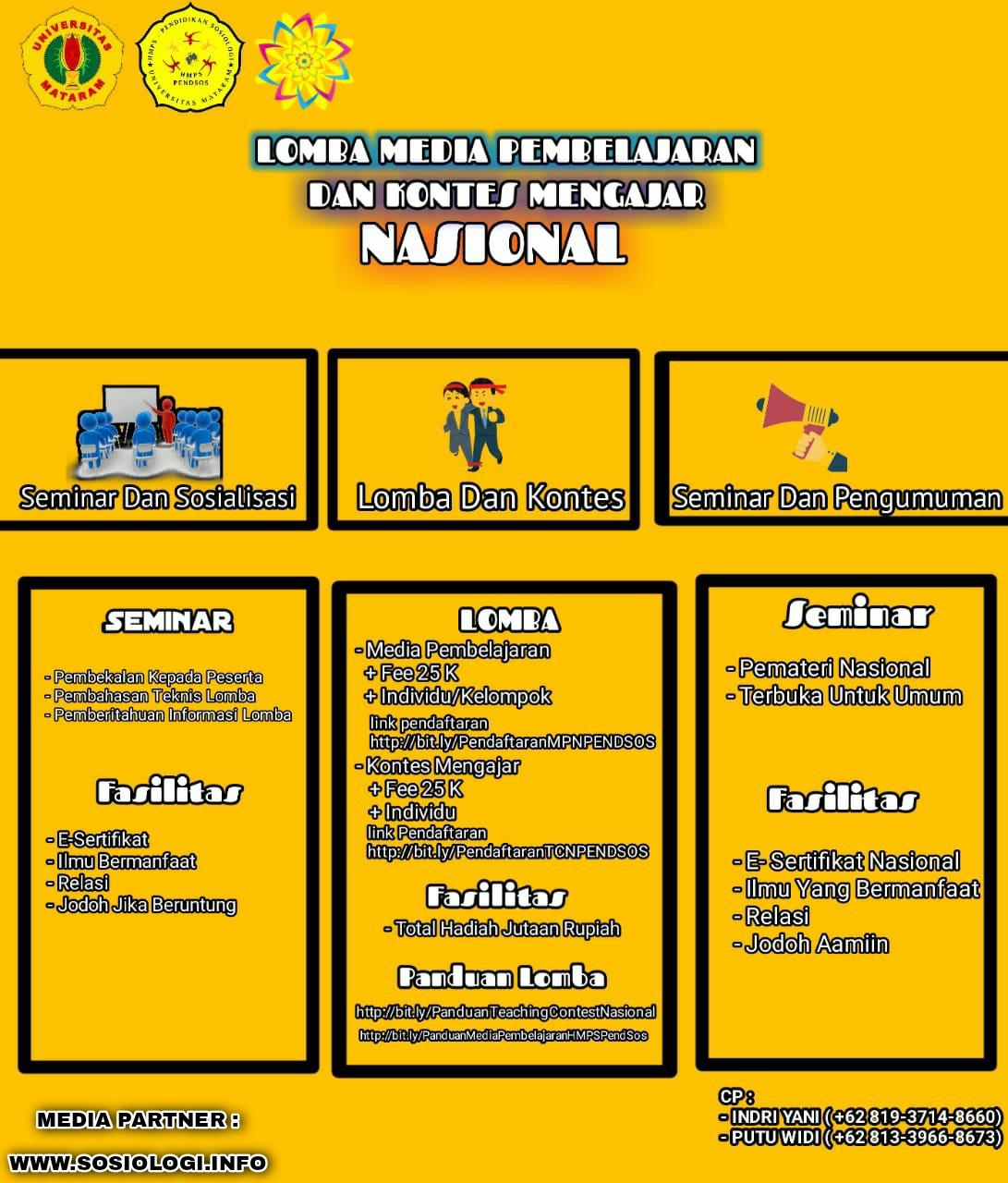 Lomba Media Pembelajaran dan Teaching Contest Nasional untuk Mahasiswa