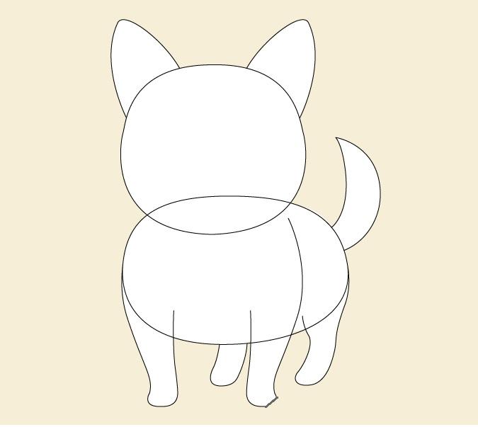 Gambar proporsi anjing anime