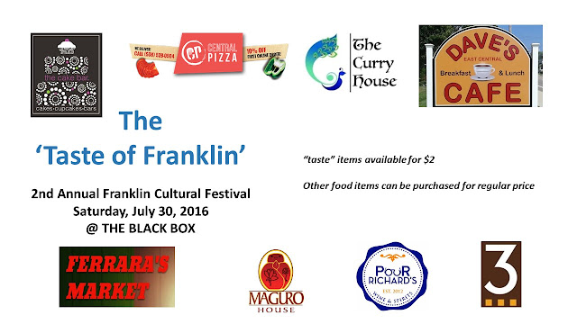 "The 2nd ""Taste of Franklin"" will be held on Saturday, July 30 at THE BLACK BOX"