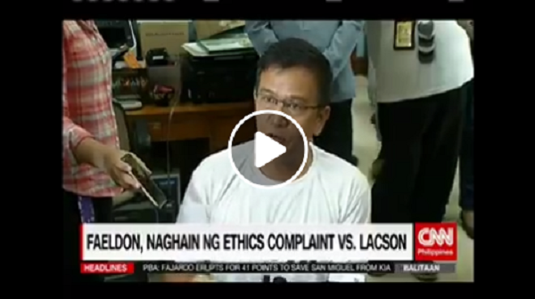 BREAKING | Naghain na ng ethics complaint si dating BOC Chairman Nicanor Faeldon laban kay Sen. Lacson, (You are a Liar)