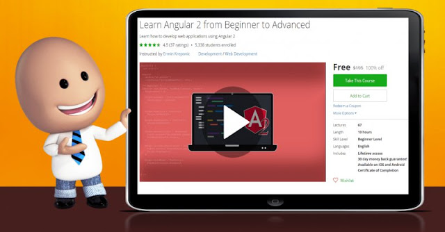 [100% Off] Learn Angular 2 from Beginner to Advanced| Worth 195$