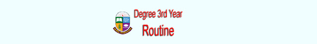 Degree 3rd year exam routine 2018