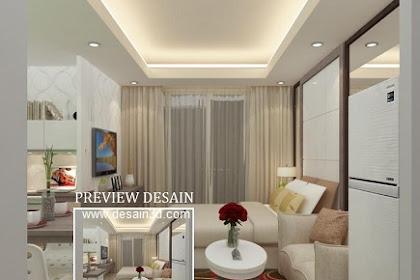 Design Interior Apartemen Springhill type studio