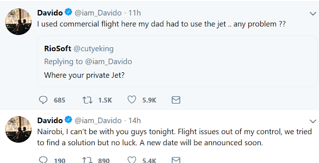Twitter users mock Davido for stating that he couldn