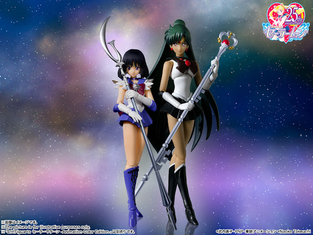 Bishojo Senshi Sailor Moon – Sailor Pluto & Saturn -Animation Color Edition- S.H.Figuarts, Tamashii Nations