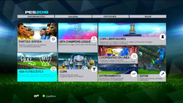 PES 2018 Graphic Menu For PES 2013