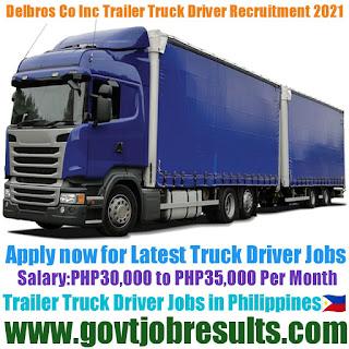 Delbros Co Inc Trailer Truck Driver Recruitment 2021-22