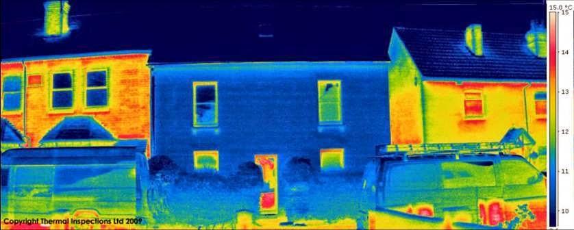 pasivna kuća termo snimak