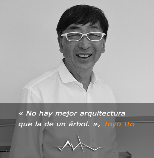 Toyo Ito (1941) sobre la arquitectura, arquitecto contemporáneo y diseñador, Premio Pritzker (Nobel de la Arquitectura) en 2013
