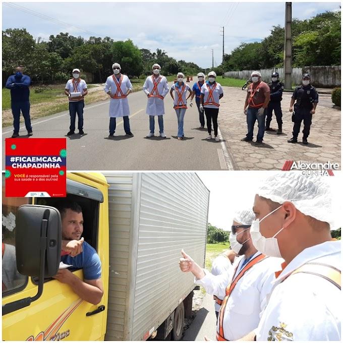 Coronavírus: Em Chapadinha, barreira sanitária está funcionando a todo vapor.