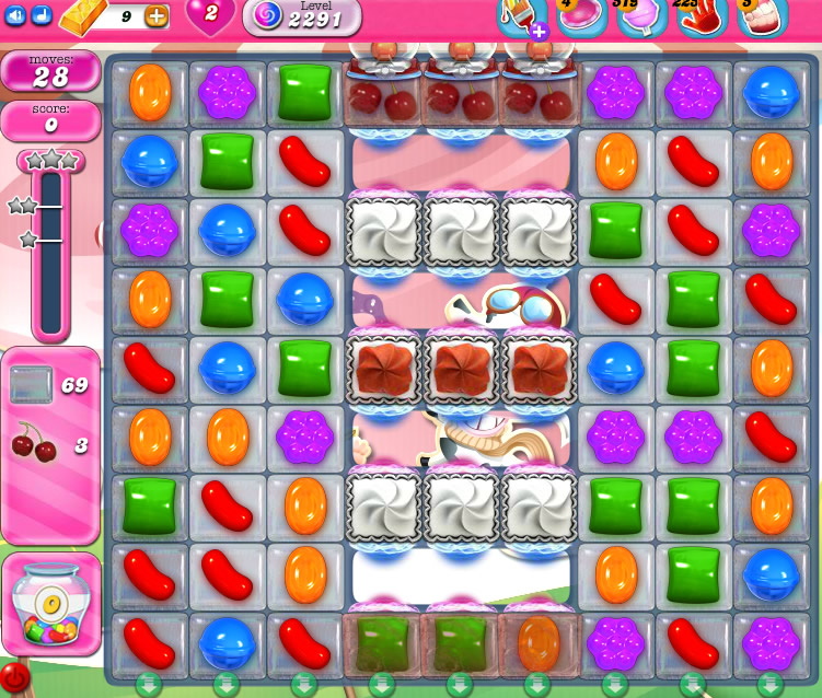 Candy Crush Saga level 2291