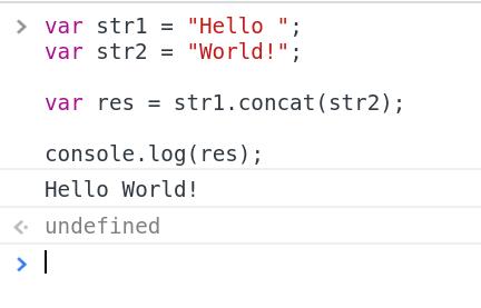 Let's Code With JavaScript: JavaScript String concat() Method
