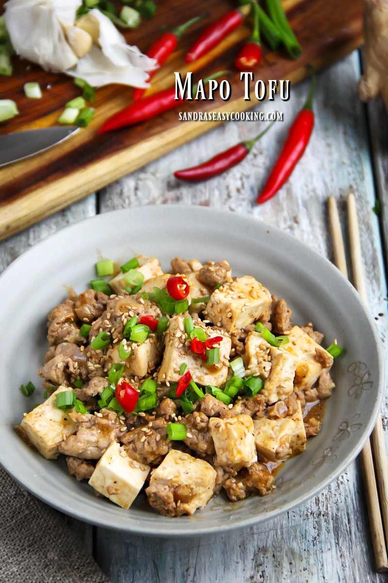 Homemade recipe for delicious Sichuan Mapo Tofu (Má Pó Dòufu)