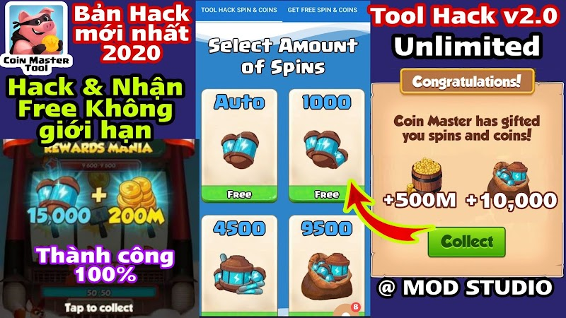 Tool Coin Master, Ứng dụng nhận Free Spin & Gold Coin Master Mới nhất 2020 cho Android
