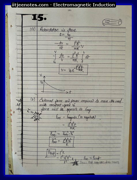 Electromagnetic Induction Notes IITJEE1