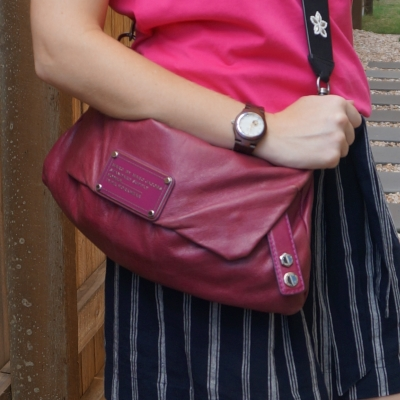 thrifted Marc by Marc Jacobs Dr Q Convertible clutch in electric violet | awayfromtheblue