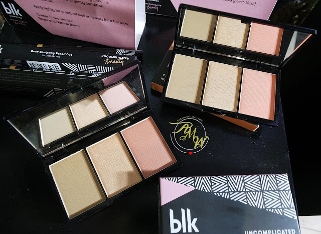 a photo of  BLK Cosmetics Contour, Blush and Highlight Palette