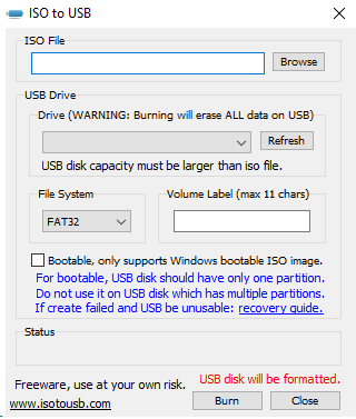 Download ISO to USB Software