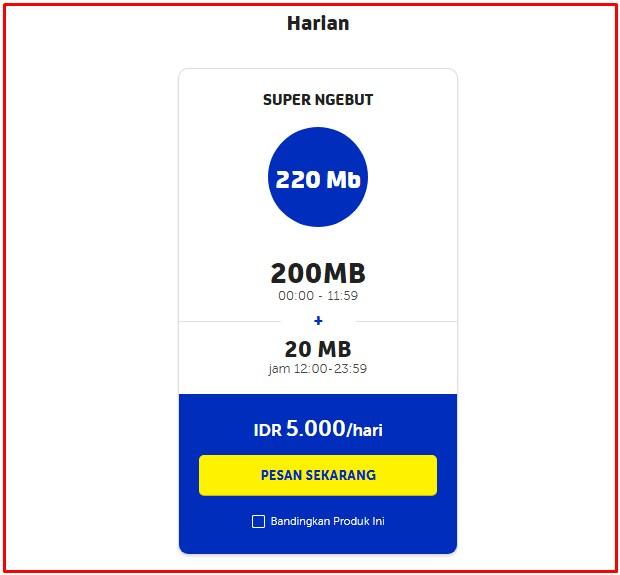 Paket Malam XL Termurah 220 Mb Harian Terbaru 2019