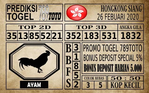 Prediksi Togel JP Hongkong 26 Februari 2020 - Prediksi Togel 789toto