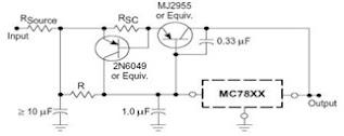 Motorolla-MC7800-Series-Short-Circuit-Protection-Circuit-Diagram
