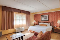Comfortable beds lodge decor