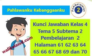 Kunci Jawaban Kelas 4 Tema 5 Subtema 2 Pembelajaran  2 Halaman 61 62 63 64 65 66 67 68 69 dan 70