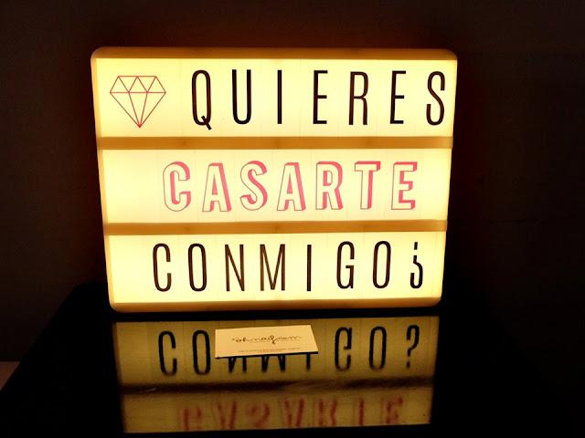lightbox caja de luz quieres casarte conmigo