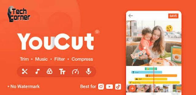 تحميل تطبيق YouCut - Video Editor بدون علامه مائيه للأندرويد