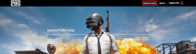 pubg submit ticket